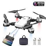 Abblie Drone con Camara HD, Drones para Niños con Camara 1080P 4K Cámara Full HD WiFi FPV, Volando por 20 Minutos/Foto Gestual/Altitude Hold/Sensor de Gravedad, Apto para Principiantes(Blanco)