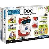 Clementoni-8005125590278 Doc Mon Robot Programmable, Color azul, rojo, blanco, Norme (59027), versión frances