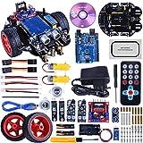 Robotica para Niños, Quimat Robots para Montar y Programar Compatible con ArduinoIDE con Tutorial de Vídeo en Castellano,UNOR3 Board, Control Remoto (QS10)