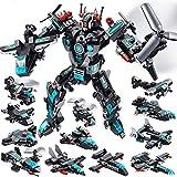 MOONTOY Juguetes Robot Stem 577 PCS Juguetes de construcción para niños de 6 años Bloques de construcción de Combate Espacial Universo 25 en 1 Mejores Regalos para niños de 5 6 7 8 9 10 11 12 años